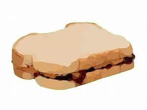 Peanut Butter Sandwich Clip Art at Clker.com - vector clip ...