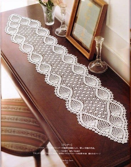 free crochet pineapple table runner patterns beautiful tablecloths crochet pattern make handmade