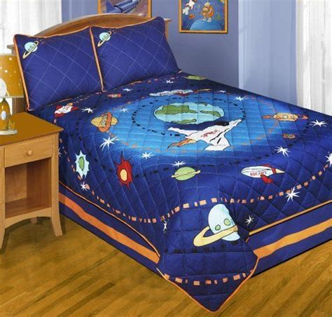 space rocket full size quilt shams bedskirt  piece bedding  morgan teen httpwww