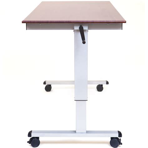 luxor standup cf60 dw 60 quot crank adjustable stand up desk