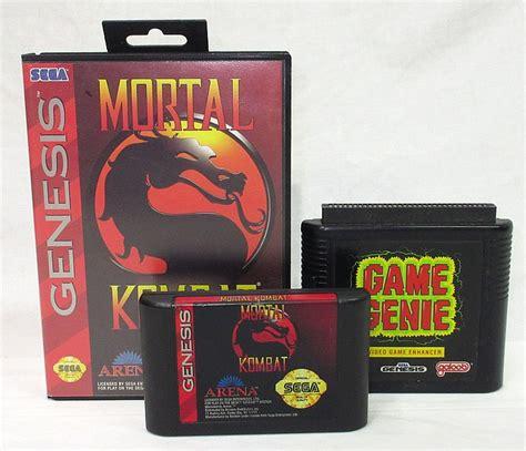 Sega Genesis Mortal Kombat And Game Genie