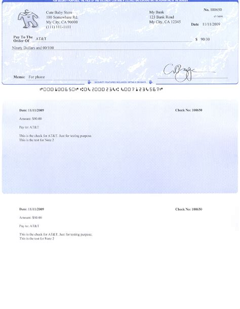 Free Check Stub Template Printables by Oversized Check Template Pdf Free Programs