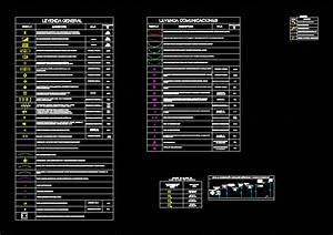 Legend Electrical Installations In Autocad