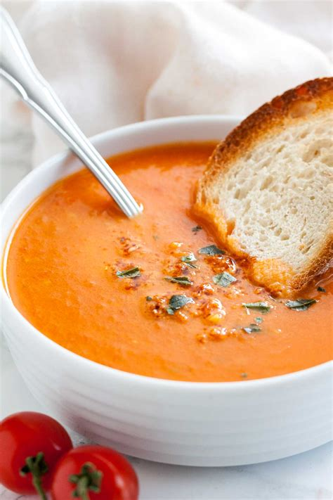 Cbell S Tomato Soup by Roasted Tomato Soup With Basil Plated Cravings