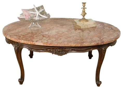 antique marble top coffee table 1940 vintage louis style marble top coffee table