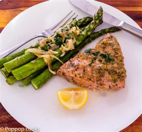 tuna steak recipes oven baked tuna steak dinner twenty five minutes poppop cooks