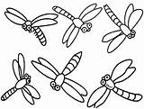 Dragonfly Coloring Pages Dragonflies Cartoon Simple Printable Drawing Dragon Cute Flies Clipart Print Colouring Cliparts Clip Fly Drawings Realistic Insect sketch template
