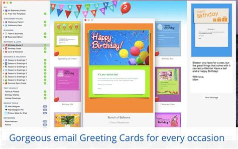 stationery greeting cards templates  apple mail  mac