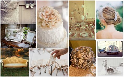 vintage wedding theme dresses decors and cake ideas
