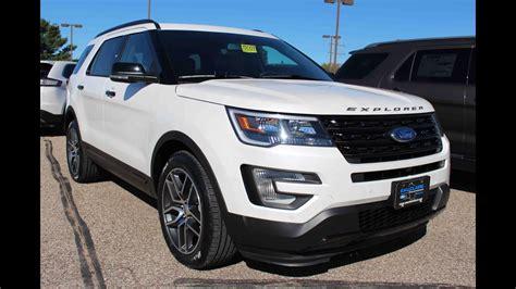 White Platinum 2016 Ford Explorer Sport