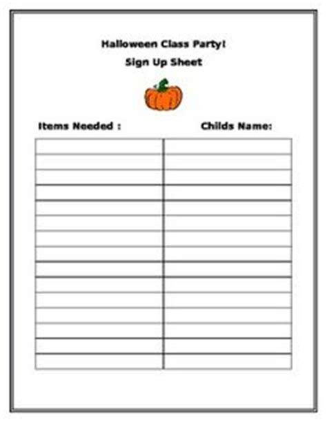 classroom sign up sheet 779 | 5fb7ecdf77fa0d36fe59dae6ace9afc6 halloween class party party signs