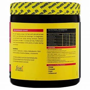 Healthvit Fitness Bcaa 6000  400g Powder  Watermelon  Pre  Post Workout Supplement  Medindia E
