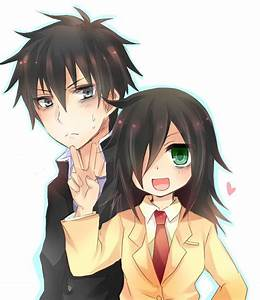 tomoko and her brother | ♚ Watamote ♚ | Pinterest | We ...