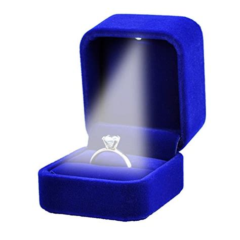 Ring Box With Light by Housweety Velvet Jewelry Gift Box With Led Light For