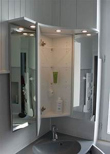 Armoire Pour Salle De Bain : meuble d 39 angle pour une petite salle de bain atlantic bain ~ Teatrodelosmanantiales.com Idées de Décoration
