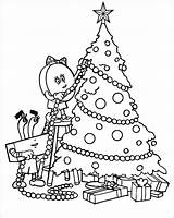 Coloring Tree Christmas Pages Decorating Decorate Printable Truck Elf Getcolorings Template sketch template