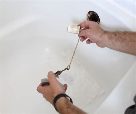 unclog  bathtub drain  easy  hometalk