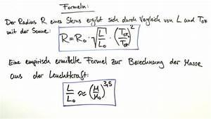 Wasservolumen Berechnen : masse radius und dichte eines sterns physik online lernen ~ Themetempest.com Abrechnung