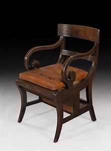 Rare, Regency, Metamorphic, Mahogany, Library, Chair