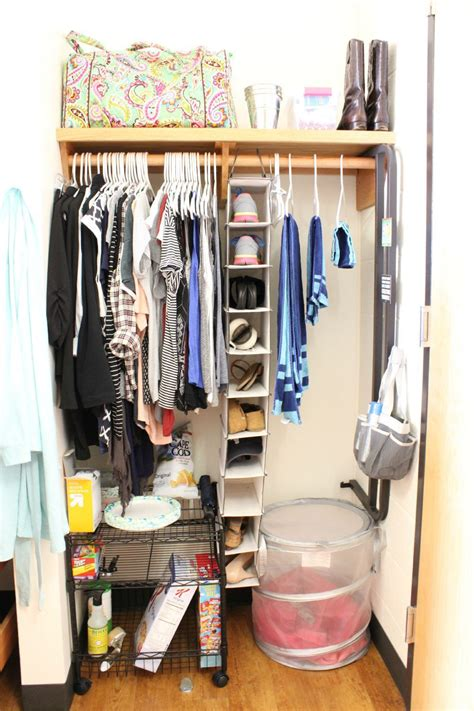 College Closet Organization Ideas by My College Room Tour Someday At School Room