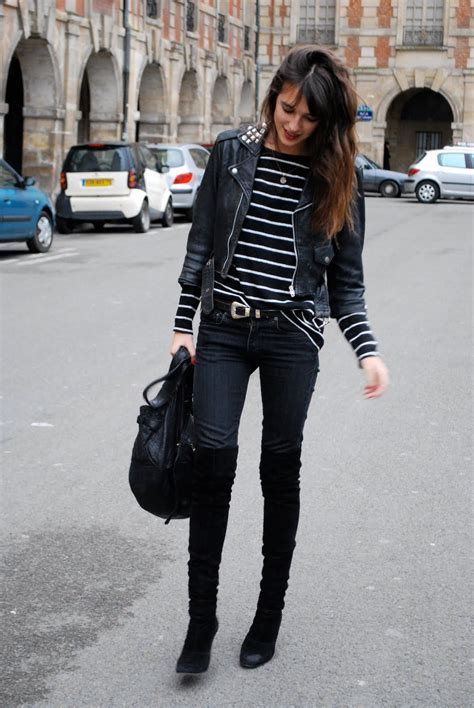 tenue avec cuissarde lou it all the stripes suede the knees