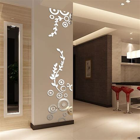 Shop for circle mirror wall decor online at target. Creative Circle Ring Acrylic Crystal Mirror Wall Stickers DIY 3D Decal Wall Home Decor Bedroom ...