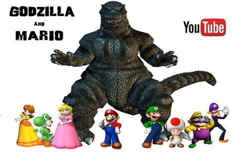 Godzilla And Mario Series Promo Poster By Steveirwinfan96