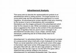 advertising essay examples essay on advertising good or bad top  advertisement essay example analyzing ads essay example of a visual comparative advertising examples