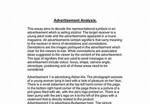 Advertisement Essay Example Research Paper Cover Ad Analysis Paper  Advertisement Essay Sample Essay On Your Mother