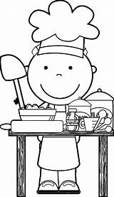 Coloring Chef Clipart Cooking Clip Baking Restaurant Dinner Kolorowanki Kitchen Dzieci Dla Preschool Restauracje Community Sheets Wecoloringpage Wonderful Restaurants Colorear sketch template