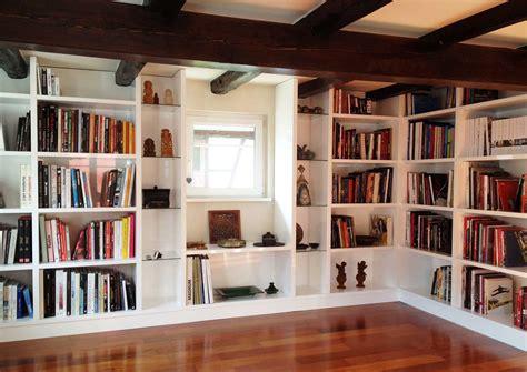 bureau angle blanc réalisez votre bibliothèque sur mesure à strasbourg