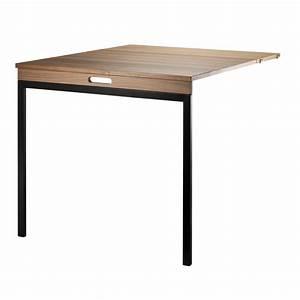 Table Pliante Noire : table murale pliante noyer noir string pour chambre ~ Teatrodelosmanantiales.com Idées de Décoration