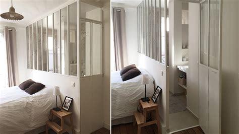 cloisonner une chambre avant après une verrière intérieure pour séparer sans