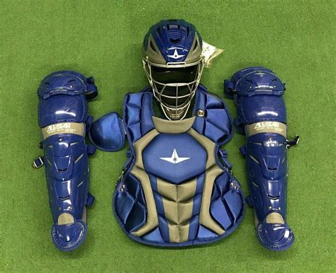 All Star System 7 Axis Youth 10-12 Catchers Gear Set - Royal Blue | Baseball Catcher's Equipment