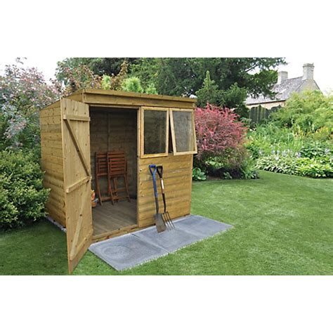 7 x 5 garden sheds forest garden pent tongue groove pressure treated shed