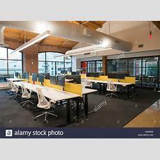 Trendigen, Modernen Offenen Konzept Loft Büro Mit Großen
