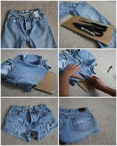 DIY Distressed Jean Shorts