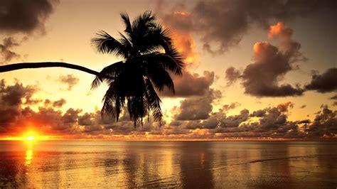 hawaii beach sunset landscape clouds nature