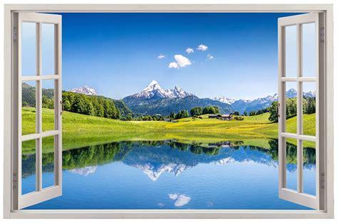 grande fenetre decor paysage montagne lac xcm