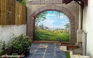 Tableau Trompe L Oeil Paysage : fresque murale d cor peint et trompe l 39 oeil peinture d corative murale ~ Melissatoandfro.com Idées de Décoration