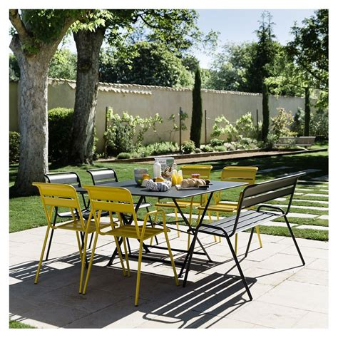 table 6 chaises beautiful table haute de jardin fermob contemporary