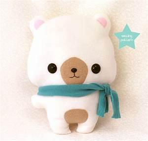 PDF sewing pattern Cute Bear stuffed animal easy beginner