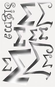 greek letter sigma stencil for all your sorority crafting With greek letter stencils