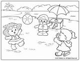 Coloring Pages Summer Printable Beach Colouring Sheets Royalty Fisher Cute Fun Little Playing Print Preschool Adult Animal Kid Remind Days sketch template