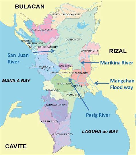 map  metro manila mmda   scientific