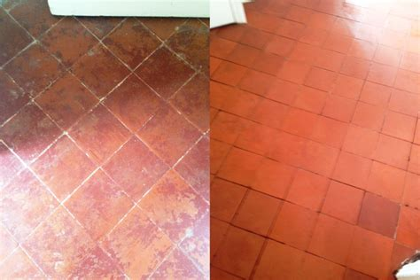 Quarry Tiled Hallway Floor Cleaned And Sealed In Brixton