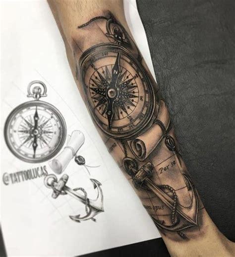 pin de gabriel bautista en tatto ancla  brujula primer