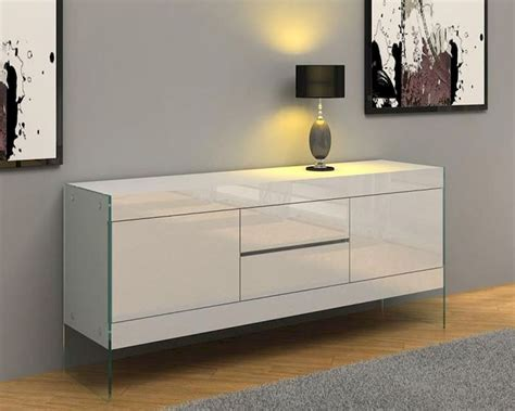 modern white floating buffet dwht sb