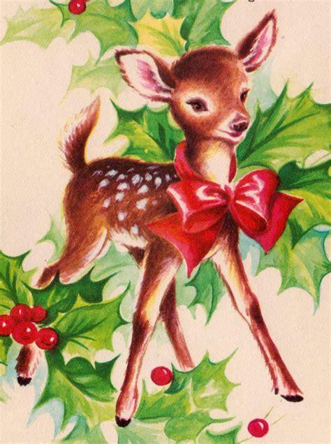 vintage doe christmas card atemma zangs walters vintage