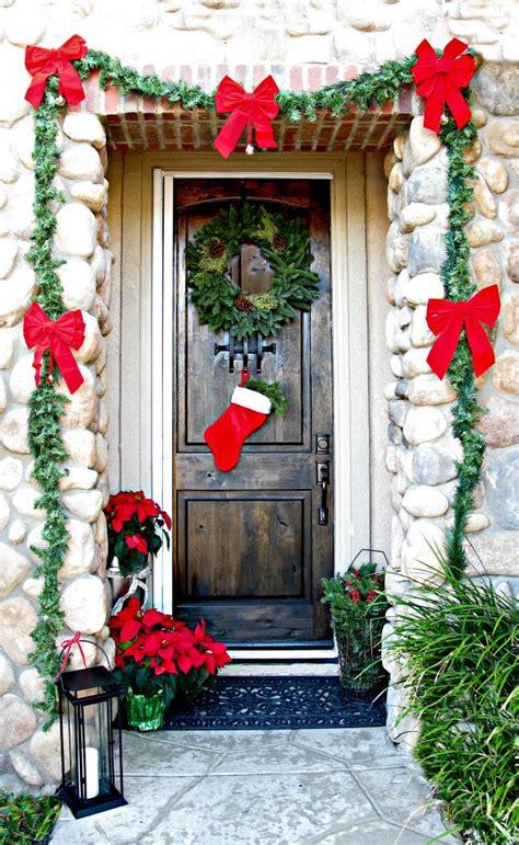 extravagant christmas decorations   front door